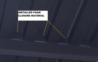 Installed Foam Closure