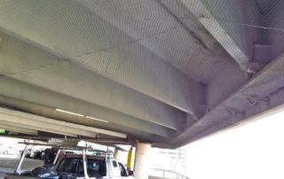 Screen Over Parking Deck Ceiling